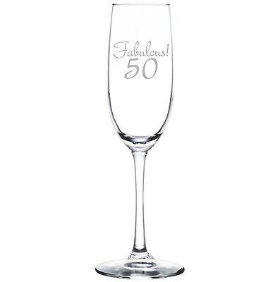 Stemless Flute Glass - Champagne Sparkling Wine Flute Glass Stemmed Stemless Fabulous 50 50th Birthday