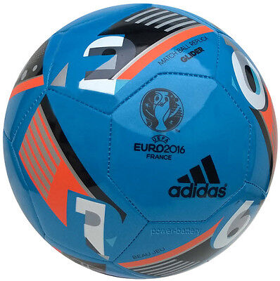ADIDAS EURO16 BEAU JEU GLIDER EURO 2016 FUSSBALL EM 2016 BALL BLAU GR.5 (Euro Glider Fußball-ball)