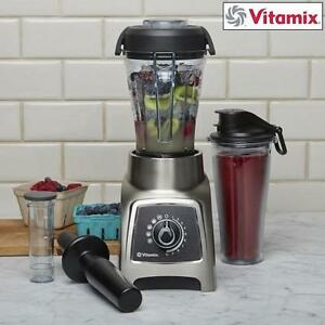 NEW OB VITAMIX S55 SS BLENDER - 125621539 - BRUSHED STAINLESS STEEL NEW OPEN BOX PRODUCT