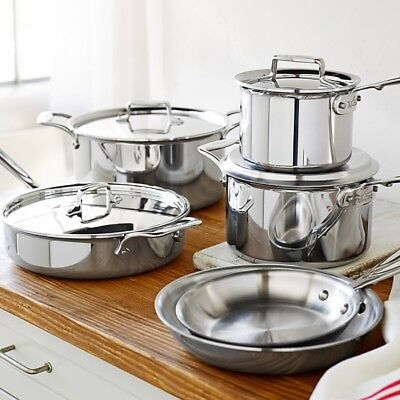 All-Clad d5 Stainless-Steel 10-Piece Cookware Set ()