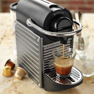 Nespresso Pixie Espresso Maker with 10 sleeves of mixed pods