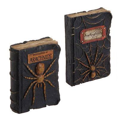 Raz Imports Spider Spell Books Assorted~Encyclopedia of Arachnids~Arachnophobia - Halloween Encyclopedia