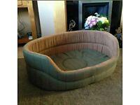 "Dutch Design Slumber Dog Bed - Green Tweed - Extra Large (35"" / 89cm width) RRP £45"