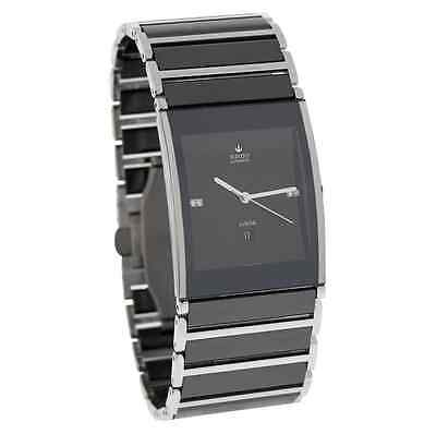 NWT Men's Rado Integral Jubile´ R20852702 Black & Silver Diamond Automatic Watch