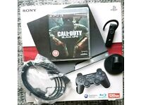 Sony PlayStation 3 (PS3) 500GB Black, Bluetooth Headset, HDMI, Controller, Black Ops, Boxed