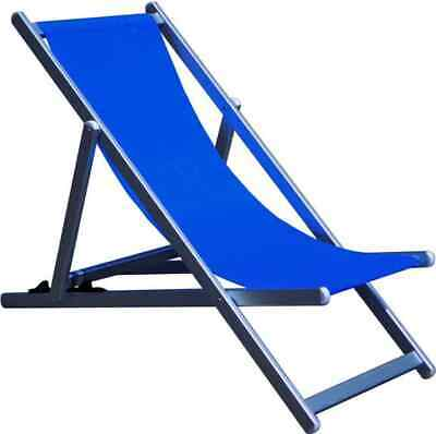 Tata Linda Sedia Sdraio pieghevole Spiaggia Alluminio Prendisole Giardino HU-022