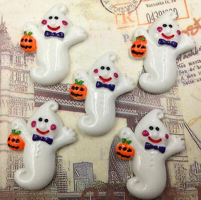 DIY 5pcs Halloween ghost Flatback Resin Cabochon Scrapbooking/Crafts #WSJSZ-44