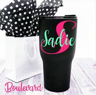 Personalized Name & Initial Monogram Vinyl Decal For Your Cups Tumblers Ramblers](Monogrammed Cups)