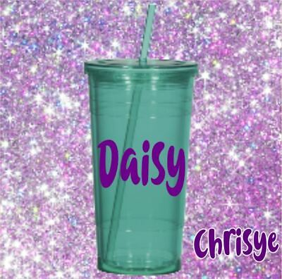 Monogram Vinyl Decal for your Tumbler Cups Personalized Name Decal Kids Boy Girl