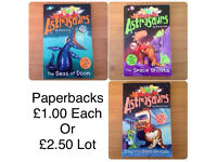 SET OF 3 ASTROSAURS PAPERBACK BOOKS BY STEVE COLE