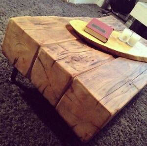 3 Beam Coffee Table Reclaimed 100 year old barn beams