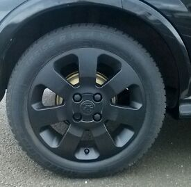 Corsa c sxi alloys in satin black brand new tyres and valves and all ballances