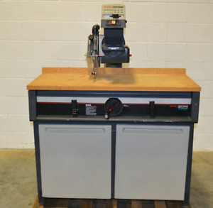 "10"" Radial Arm Saw with Cabinet"