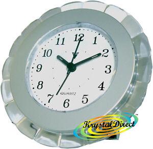 PSV-Beep-Alarm-Clock-SILVER-White-Dial-Flower-Shape