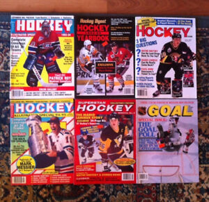 various older hockey magazines.