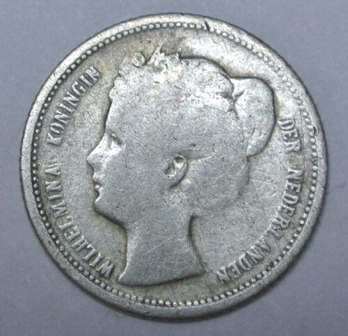 1901 Silver Netherlands 10 Cents VF
