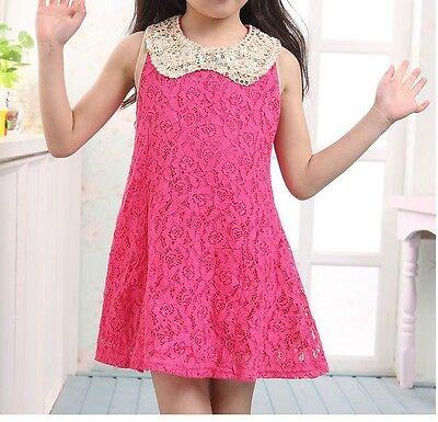 id Spitzenkleid mit Pailetten Kragen,  zweilagig  Gr. 104 -110  (Mädchen Kleid Mit Kragen)
