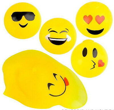 3 PACK SPLAT EMOJI  BALL  SQUISHY SPLATS TOY STRESS RELIEVER GOODY BAG BALLS