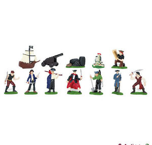 PIRATES-Toob-680804-12-Miniatures-FREE-SHIP-to-USA-w-25-SAFARI-Ltd