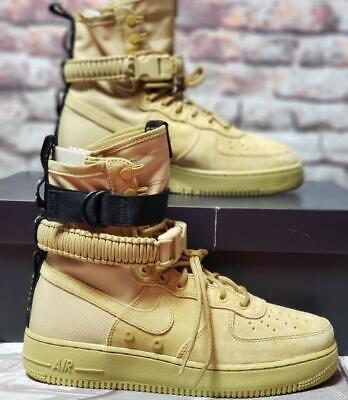 Nike SF Air Force AF1 High '17 Black Club Gold Men 864024 700 Sz 12 NEW IN (Nike Sf Air Force 1 High 17)