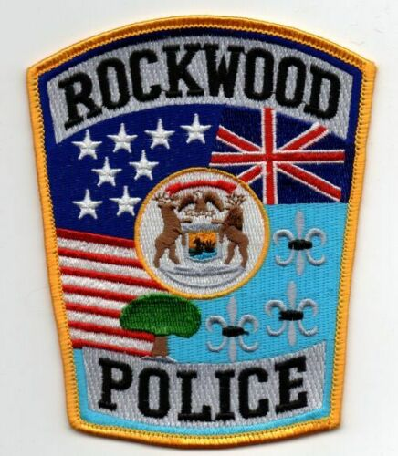 MICHIGAN MI ROCKWOOD POLICE NICE PATCH SHERIFF