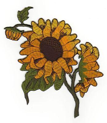 af87 Sonnenblume Aufnäher Flower Applikation Bügelbild Kinder Baby 9,5 x 13,0 cm Sonnenblume Baby