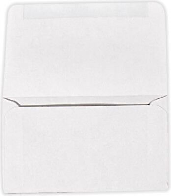 6 3/4 Remittance Bright White Closed Envelopes 3 5/8x6 1/2  24#  1000 Qty Bright White 1000 Envelopes