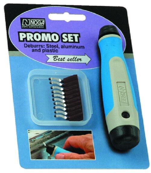 10 Piece - N Promo Set - Deburrs Steel Aluminum Plastic - Noga NG8000, TBL4