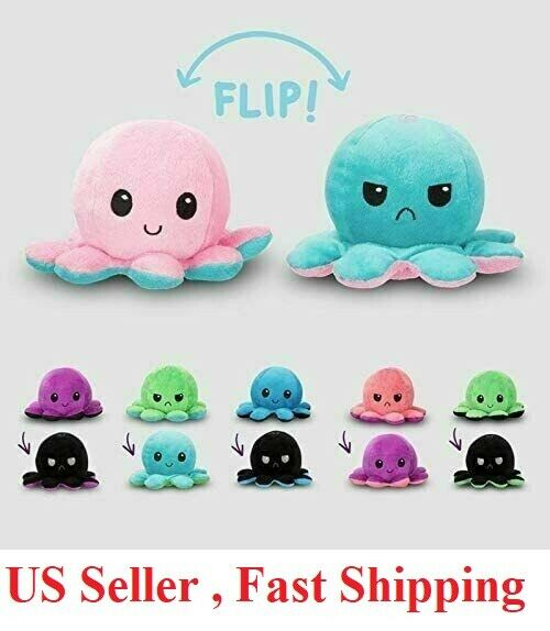 Reversible Flip Octopus Plush Stuffed Toy Soft Animal Home Accessories Baby Gift Baby
