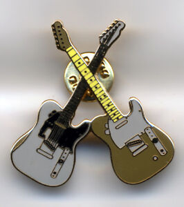 Crossed Guitars As Played By Status Quo New Pin Badges
