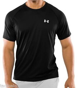 NEW-MEN-039-S-UNDER-ARMOUR-UA-1228539-TECH-HEATGEAR-T-SHIRT-LOOSE-FIT-TACTICAL-BLACK