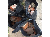 4 x rubble bags of Norfolk Red Brick FREE collection from NR2