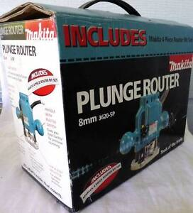 "MAKITA PLUNGE ROUTER Model 3620SP 1/4"" SHANK RRP $249 Forest Glen Maroochydore Area Preview"