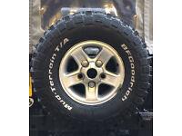 BFGoodrich mud terrain tyres (alloys not included)