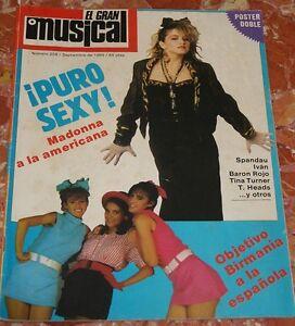 EL-GRAN-MUSICAL-MADONNA-SPANISH-MAGAZINE-1985-SPANDAU-BALLET-BARON-ROJO-TURNER