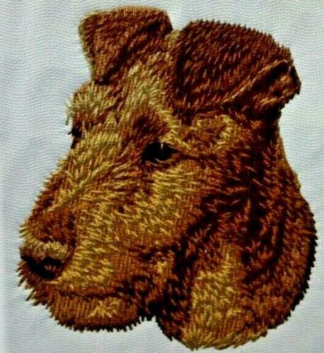 Irish Terrier Puppy Dog Breed Bathroom SET OF 2 HAND TOWELS EMBROIDERED