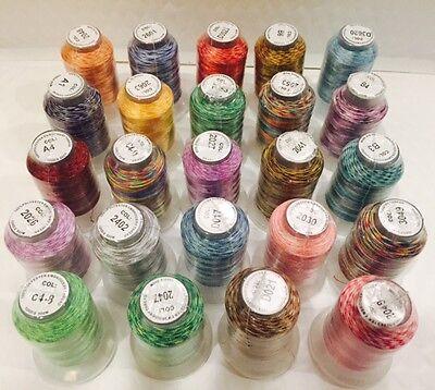 24 Spools Variegated Embroider Machine Thread - STUNNING COLORS
