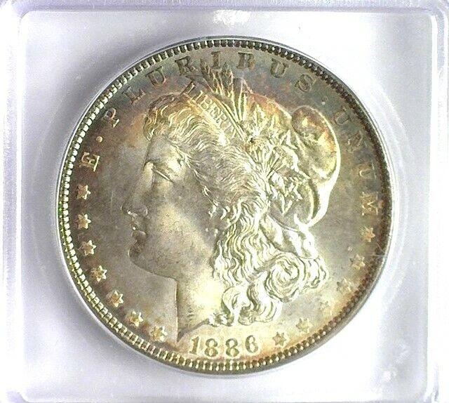 1886 MORGAN SILVER DOLLAR ICG MS 68 LISTS FOR $15,500!!! FANTASTIC TONING!!