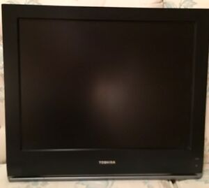 "Toshiba 20"" flatscreen LCD Colour TV with wall mount bracket"