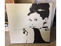 Audrey Hepburn Canvas - Artwork