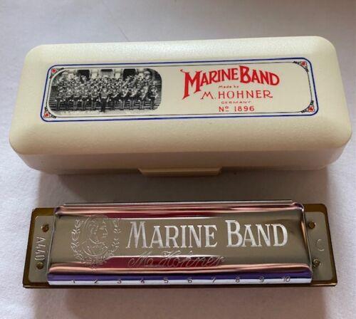 New HOHNER Harmonica #1896 Marine Band Harmonica-C Key-New With Box-Stunning