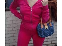 Hot pink velour / velvet tracksuit / lounge set