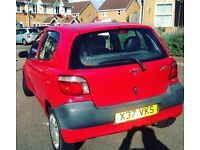 Yaris 10Month Mot 12Month tax 1.0 litre very lovely lady owner