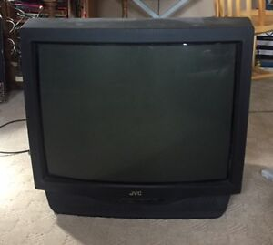 """27"""" JVC TV with remote."""