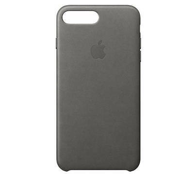 Genuine Apple - iPhone 7 Plus Leather Case - Storm Gray - MMYE2ZM/A - VG