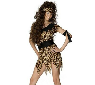 Ladies Cavewoman Fancy Dress Costume Cave Woman Outfit by Smiffys - Cavewoman Outfit
