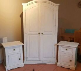 Wardrobe and 2 Bedside Tables