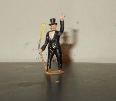 VINTAGE CHARBENS LEAD PAINTED CIRCUS RING MASTER in TOP HAT
