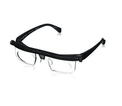 Adjustable Dial Eye Glasses Vision Reader Glasses Care Includes Free Case