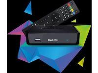 MAG 250 IPTV OPENBOX 12 MONTHS WARRANTY